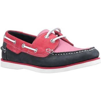 Schuhe Damen Bootsschuhe Hush puppies  Pink/Marineblau