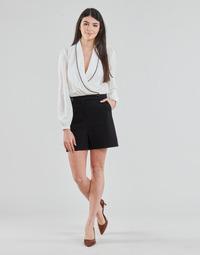 Kleidung Damen Overalls / Latzhosen Morgan SHAMIE Schwarz / Weiss