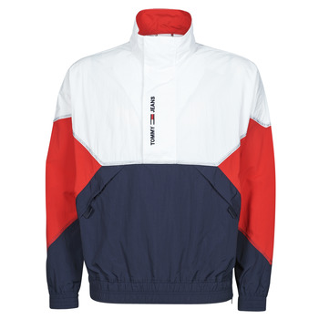 Kleidung Herren Jacken Tommy Jeans TJM LIGHTWEIGHT POPOVER JACKET Weiss / Rot / Marine