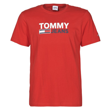 Kleidung Herren T-Shirts Tommy Jeans TJM CORP LOGO TEE Rot