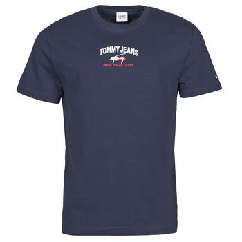 Kleidung Herren T-Shirts Tommy Jeans TJM TIMELESS TOMMY SCRIPT TEE Marine