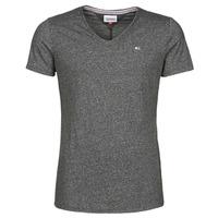 Kleidung Herren T-Shirts Tommy Jeans TJM SLIM JASPE V NECK Schwarz