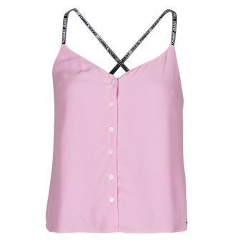 Kleidung Damen Tops / Blusen Tommy Jeans TJW CAMI TOP BUTTON THRU Rose