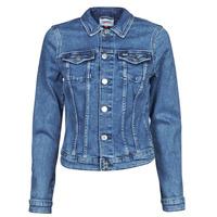 Kleidung Damen Jeansjacken Tommy Jeans VIVIANNE SLIM DENIM TRUCKER NMBS Blau