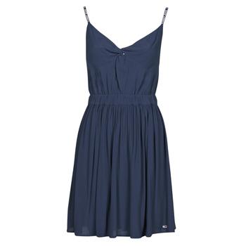 Kleidung Damen Kurze Kleider Tommy Jeans TJW ESSENTIAL STRAP DRESS Marine