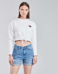 Kleidung Damen Sweatshirts Tommy Jeans TJW SUPER CROPPED BADGE CREW Weiss