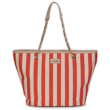 Taschen Damen Shopper / Einkaufstasche Liu Jo SICURA XL TOTE Beige / Rot