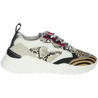 Schuhe Damen Sneaker Low Meline 7071 Weiss/Fuchsia