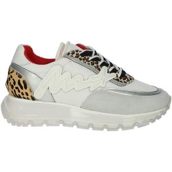 Schuhe Damen Sneaker Low Meline 1700 Weiss/Silber