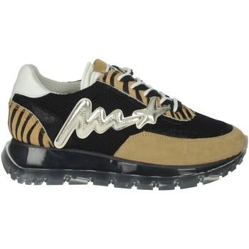 Schuhe Damen Sneaker Low Meline 1700 Schwarz/Braun Taupe