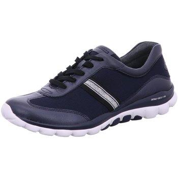 Schuhe Damen Sneaker Low Rollingsoft By Gabor Schnuerschuhe 56.966.66 66 blau
