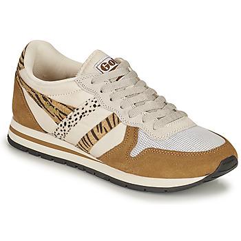 Schuhe Damen Sneaker Low Gola DAYTONA SAFARI Olive / gelb / Camel