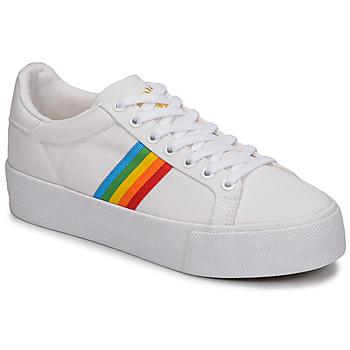 Schuhe Damen Sneaker Low Gola ORCHID PLATEFORM RAINBOW Weiss