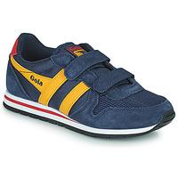 Schuhe Kinder Sneaker Low Gola DAYTONA VELCRO Marine / Gelb