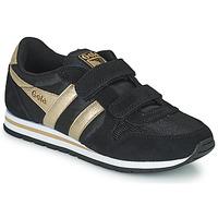 Schuhe Mädchen Sneaker Low Gola DAYTONA MIRROR VELCRO Schwarz / Gold