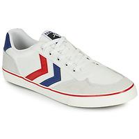 Schuhe Herren Sneaker Low Hummel STADIL LOW OGC 3.0 Weiss / Blau / Rot
