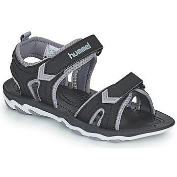 Schuhe Kinder Sportliche Sandalen Hummel SANDAL SPORT JR Schwarz