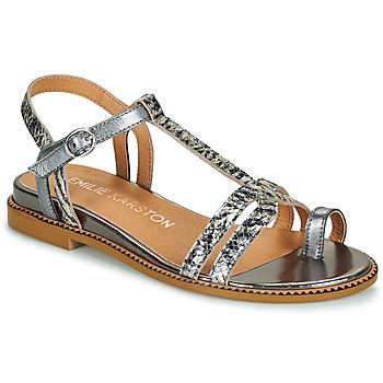 Schuhe Damen Sandalen / Sandaletten Karston SOREN Silbern