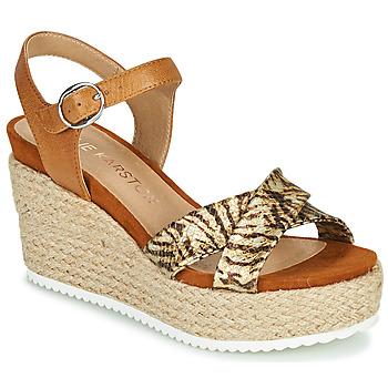 Schuhe Damen Sandalen / Sandaletten Karston LABON Braun / Gold
