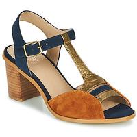 Schuhe Damen Sandalen / Sandaletten Karston LILIAN Braun / Marine