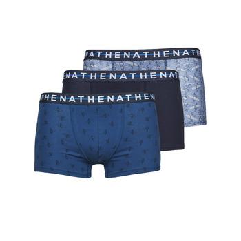 Unterwäsche Herren Boxer Athena EASY STYLE X3 Blau / Marine / Blau