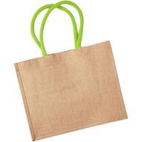 Taschen Shopper / Einkaufstasche Westford Mill W407 Natur/Limette