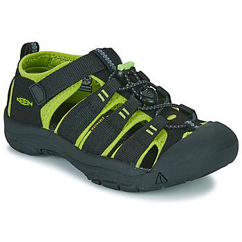 Schuhe Jungen Sportliche Sandalen Keen NEWPORT H2 Schwarz / Grün