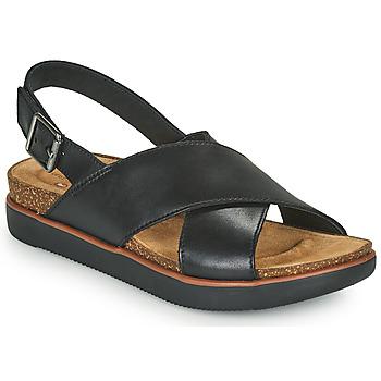 Schuhe Damen Sandalen / Sandaletten Clarks ELAYNE CROSS Schwarz