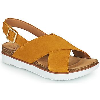 Schuhe Damen Sandalen / Sandaletten Clarks ELAYNE CROSS Senf