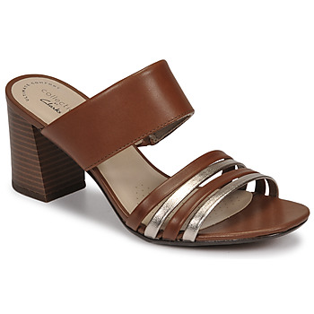 Schuhe Damen Pantoffel Clarks JOCELYNNE ANDI Braun / Silbern
