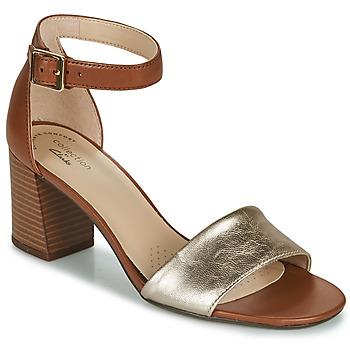 Schuhe Damen Sandalen / Sandaletten Clarks JOCELYNNE CAM Braun / Silbern