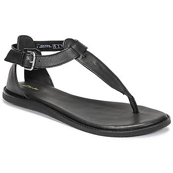 Schuhe Damen Sandalen / Sandaletten Clarks KARSEA POST Schwarz
