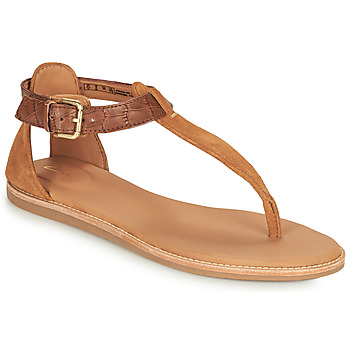 Schuhe Damen Sandalen / Sandaletten Clarks KARSEA POST Braun / Camel