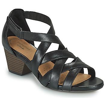 Schuhe Damen Sandalen / Sandaletten Clarks LORENE POP Schwarz
