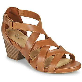 Schuhe Damen Sandalen / Sandaletten Clarks LORENE POP Camel