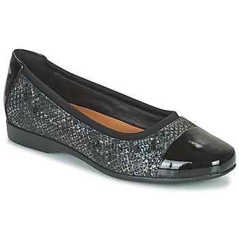 Schuhe Damen Ballerinas Clarks UN DARCEY CAP2 Schwarz