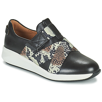 Schuhe Damen Sneaker Low Clarks UN RIO STRAP Schwarz