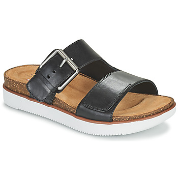 Schuhe Damen Pantoffel Clarks ELYANE EEASE Schwarz
