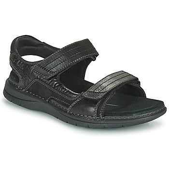Schuhe Herren Sportliche Sandalen Clarks NATURE TREK Schwarz