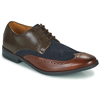 Schuhe Herren Derby-Schuhe Clarks STANFORD LIMIT Braun / Blau