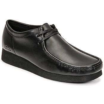 Schuhe Herren Derby-Schuhe Clarks WALLABEE 2 Schwarz