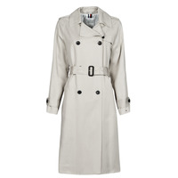 Kleidung Damen Trenchcoats Tommy Hilfiger DB LYOCELL FLUID TRENCH Beige