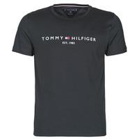 Kleidung Herren T-Shirts Tommy Hilfiger CORE TOMMY LOGO Schwarz