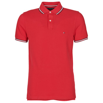 Kleidung Herren Polohemden Tommy Hilfiger TOMMY TIPPED SLIM POLO Rot