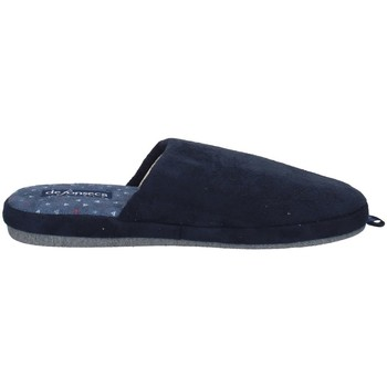 Schuhe Herren Hausschuhe De Fonseca ROMA TOP I M610 BLAU
