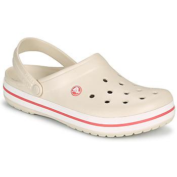 Schuhe Damen Pantoletten / Clogs Crocs CROCBAND Beige / Korallenrot