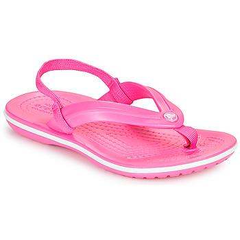 Schuhe Mädchen Zehensandalen Crocs CROCBAND STRAP FLIP K Rose
