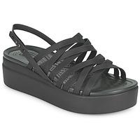 Schuhe Damen Sandalen / Sandaletten Crocs CROCS BROOKLYN STRAPPY LOWWDGW Schwarz