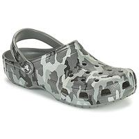 Schuhe Herren Pantoletten / Clogs Crocs CLASSIC PRINTED CAMO CLOG Camouflage / Grau