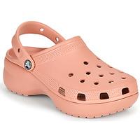 Schuhe Damen Pantoletten / Clogs Crocs CLASSIC PLATFORM CLOG W Rose
